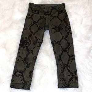 Lululemon Wunder Under Snake-Print Leggings